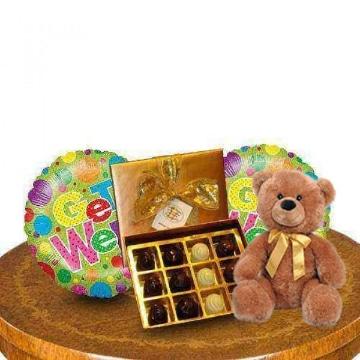 arreglos florales con peluches y globos para enamorados