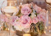 4 increibles centro de mesa con copas y flores
