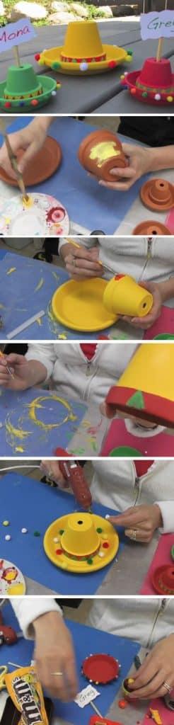centros de mesa charros para niños hechos a mano