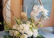 4 sencillas ideas para hacer centros de mesa con aros