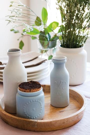 centros de mesa con jarrones de barro para la casa