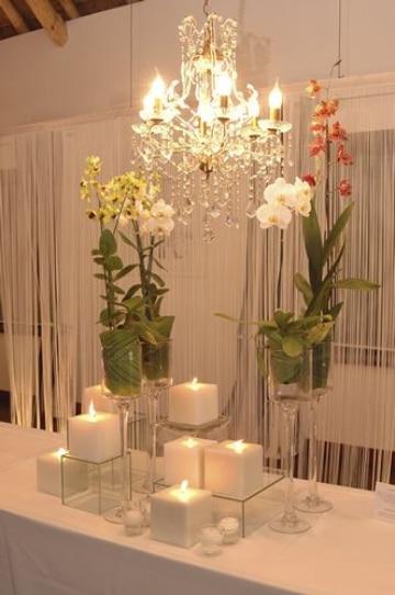 centros de mesa de cristal con flores paso a paso