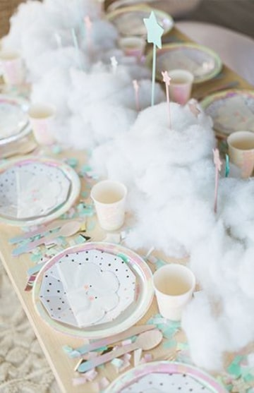 centros de mesa de nubecitas para fiestas infantiles