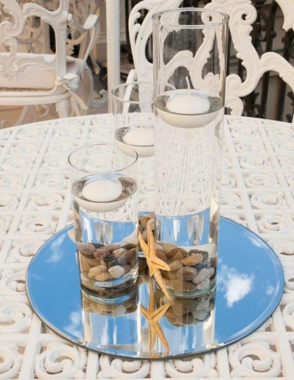 centro de mesa con caracoles ideas