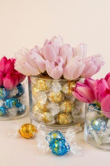 centro de mesa con caramelos ideas