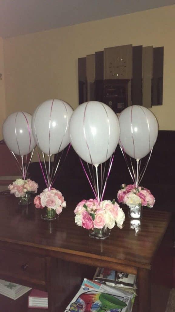 centros de mesa con bombas para bodas