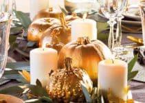 4 hermosas ideas de centros de mesa con calabazas