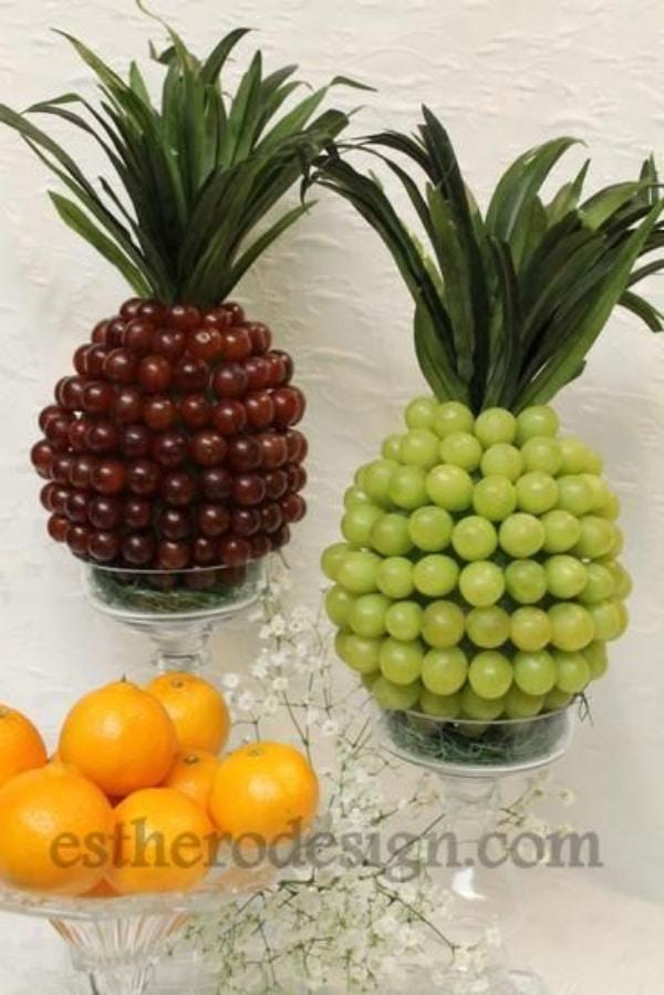 centros de mesa con frutas enteras ideas