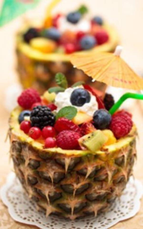 centros de mesa con frutas enteras para fiestas
