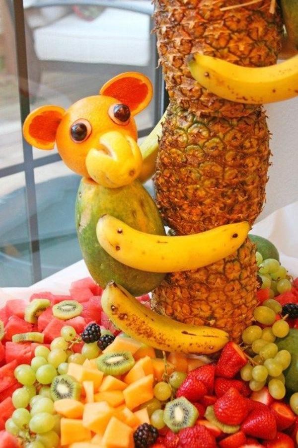 centros de mesa con frutas enteras para niños