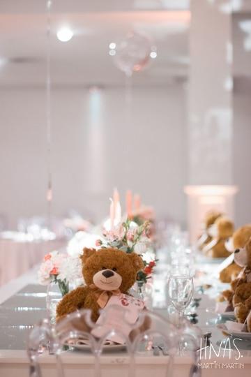 centros de mesa con osos para cumpleaños infantiles