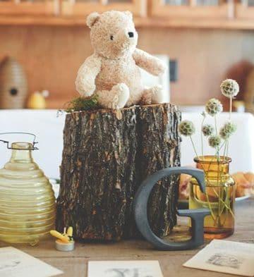 centros de mesa con osos tiernos