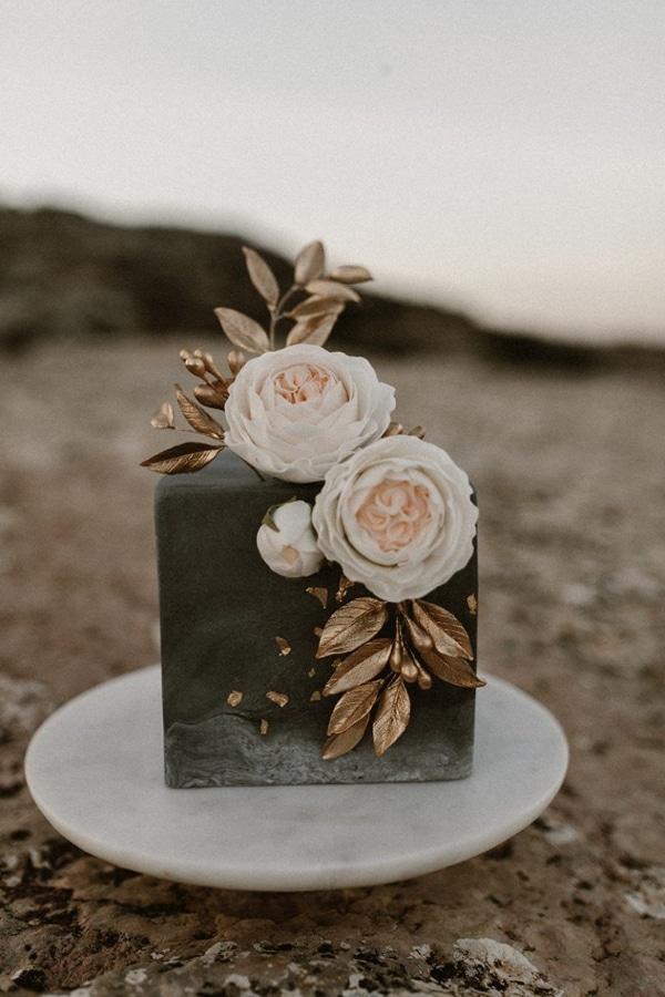 centros de mesa con pastel para bodas
