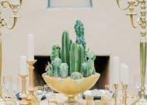 4 ideas de arreglos de mesa con cactus para bodas