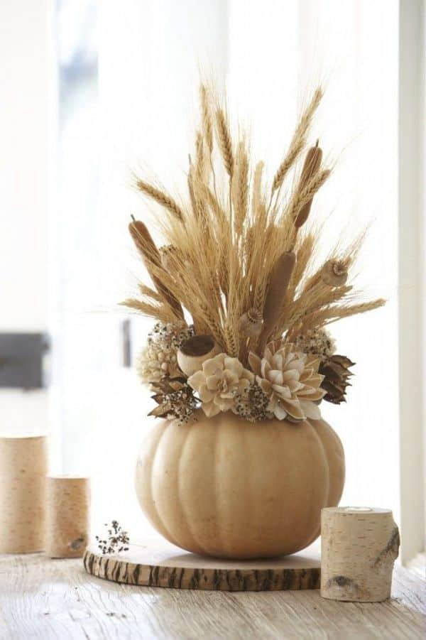 centro de mesa flores secas para casa