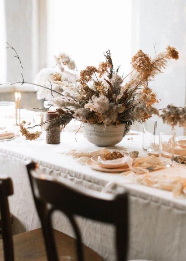 centro de mesa flores secas para cenas