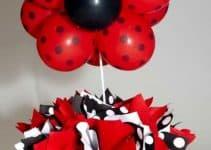 3 centros de mesa de ladybug para fiestas de niñas