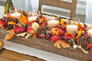 4 estilos de centros de mesa otoñales para casa y fiestas
