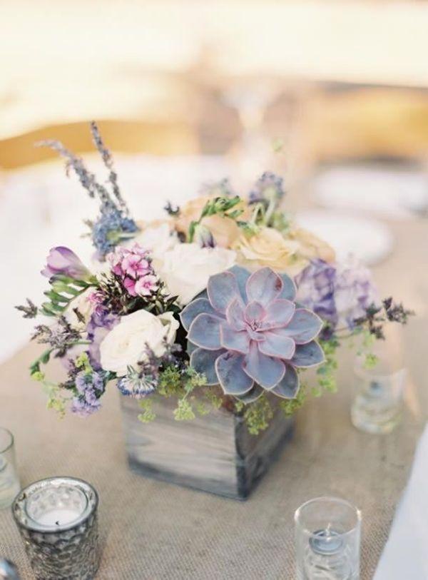 suculentas para centros de mesa y flores