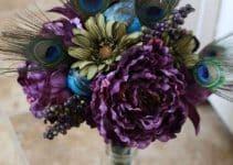 4 arreglos con plumas de pavo real para casa y fiestas