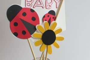 4 lindos arreglos de mesa de ladybug para cumpleaños