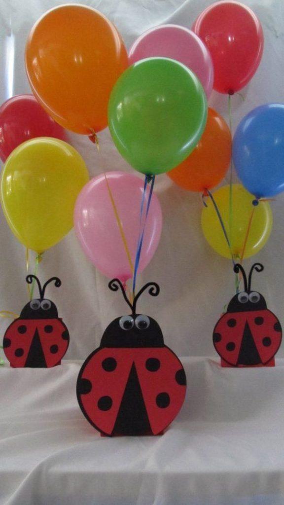arreglos de mesa de ladybug paso a paso
