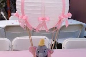 4 lindos centro de mesa de elefantito para fiestas de bebe