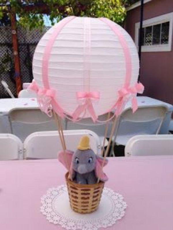 centro de mesa de elefantito para niñas