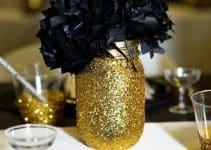 4 formas de hacer un centro de mesa negro y dorado