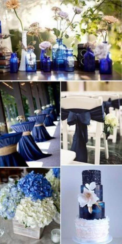 centros de mesa azul marino ideas