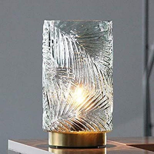 centros de mesa con lamparas sencillas