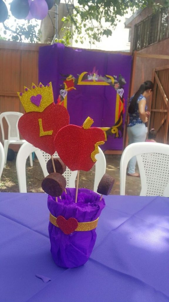 centros de mesa de descendientes para niños