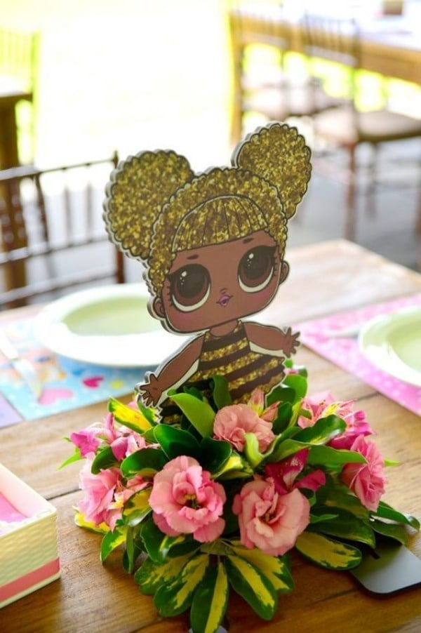 centros de mesa de lol con flores