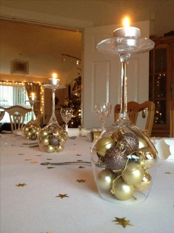 centros de mesa plateados para matrimonios