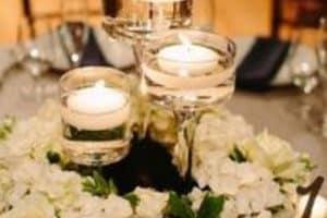 4 ideas usar copas para centro de mesa en bodas
