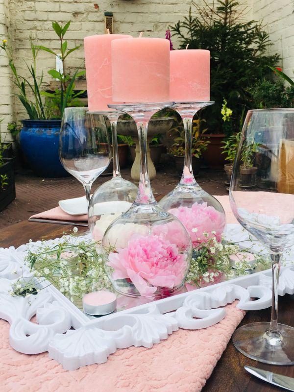copas para centro de mesa de bodas