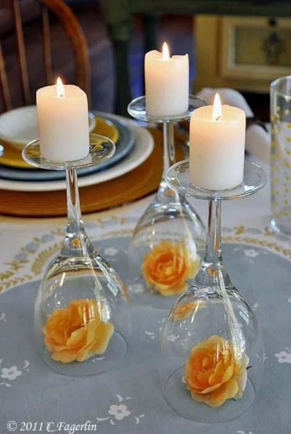 copas para centro de mesa elegantes