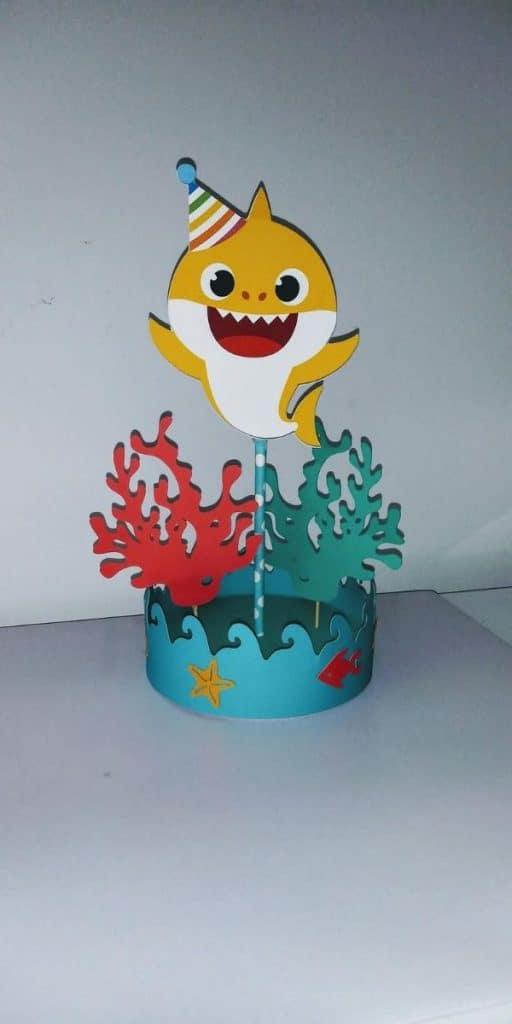 adornos de cumpleaños de baby shark divertidos