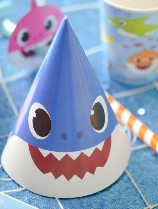 adornos de cumpleaños de baby shark para la casa
