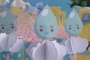 4 tiernos adornos de lluvia de amor para cumpleaños