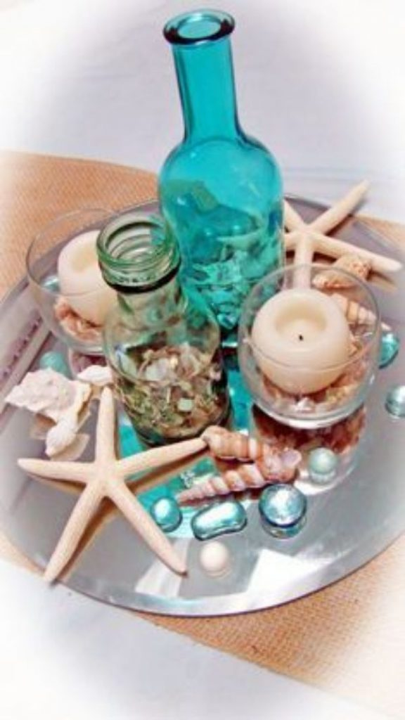 adornos de mesa de la sirenita sencillos