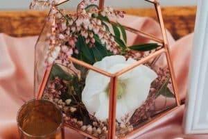 4 centros de mesa rose gold para bodas y quinceaños