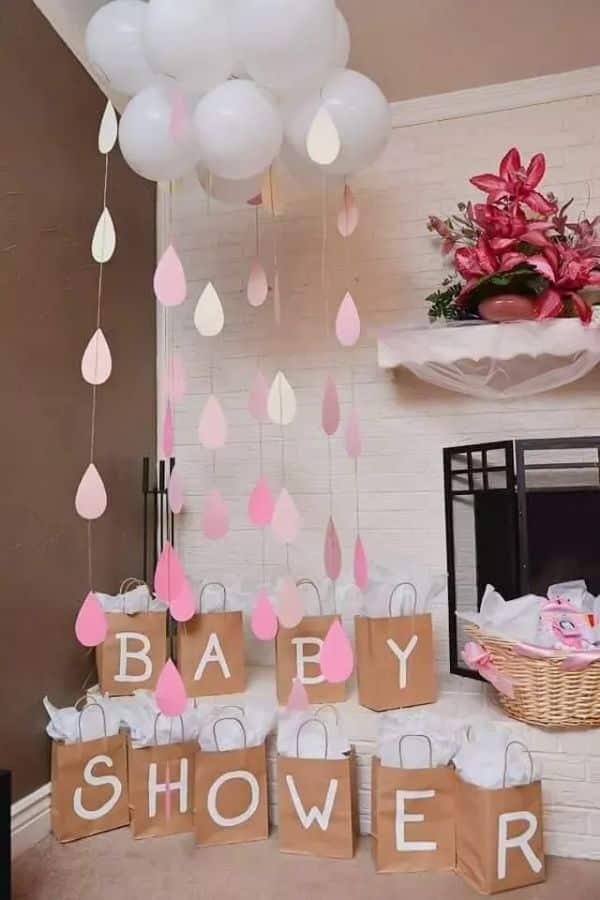 como hacer decoracion de pared para baby shower