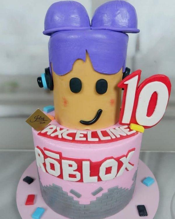 decoracion de cumpleaños de roblox para tortas