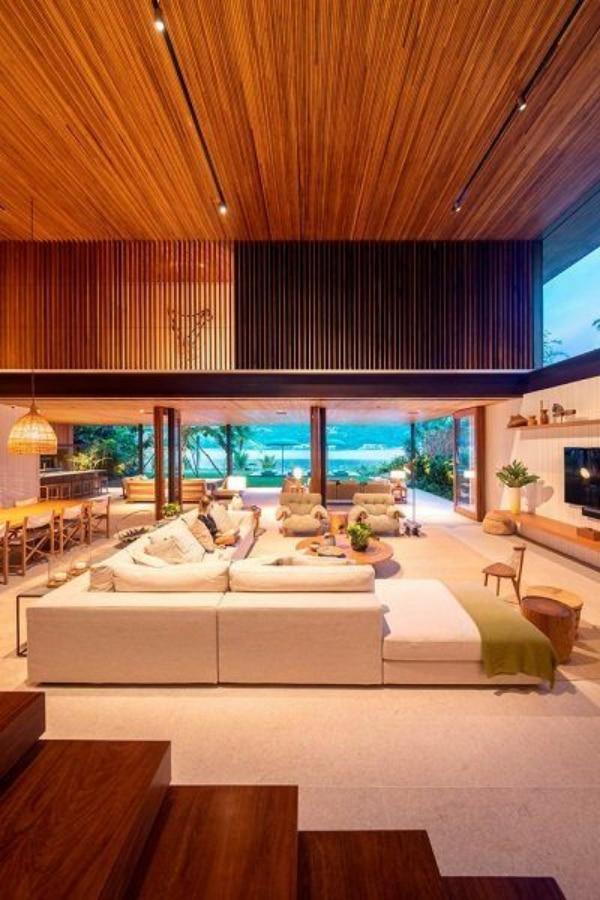 casas modernas interiores living