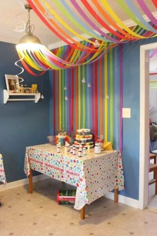 como decorar pared para cumpleaños en casa