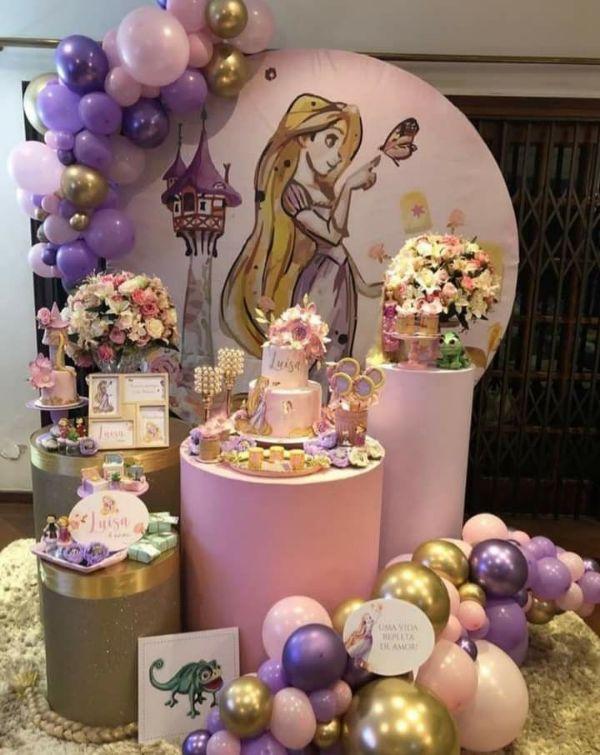 decoracion de princesas para cumpleaños sencilla