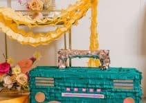 2 ideas para crear decoracion fiesta de los 80 y 90