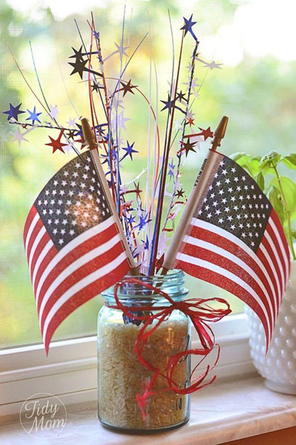 decoracion para el 4 de julio banderas