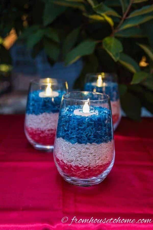 decoracion para el 4 de julio mesa
